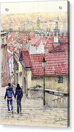 Prague Zamecky Schody Castle Steps Acrylic Print