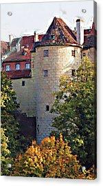 Praha Castle Acrylic Print by Shawn Wallwork