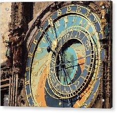 Praha Orloj Acrylic Print by Shawn Wallwork