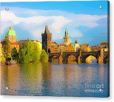 Praha - Prague - Illusions Acrylic Print