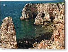 Praia Da Marinha Cliffs And Sea Acrylic Print