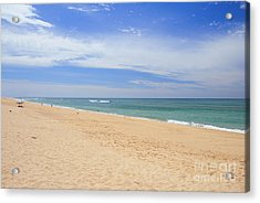 Praia De Faro Acrylic Print by Carl Whitfield