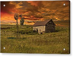 Prairie Barn Acrylic Print by Jonas Wingfield