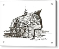 Prairie Barn Acrylic Print by Rick Stoesz
