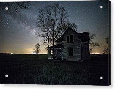 Acrylic Print featuring the photograph Prairie Gold And Milky Way by Aaron J Groen