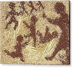 Prairie Grain Dance Acrylic Print by Naomi Gerrard