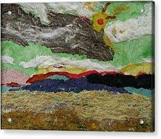 Prairie Harvest Sky Acrylic Print by Naomi Gerrard