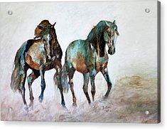 Prairie Horse Dance Acrylic Print