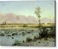 Prairie Landscape Acrylic Print by Albert Bierstadt