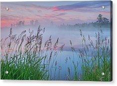 Acrylic Print featuring the photograph Prairie Pond Before Sunrise by Dan Jurak