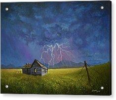 Prairie Storm Acrylic Print by C Steele