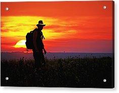 Prairie Sundown Acrylic Print by Keith Bridgman