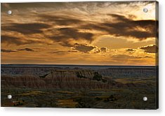 Prairie Wind Overlook Badlands South Dakota Acrylic Print