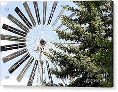 Acrylic Print featuring the photograph Prairie Windmill by Wilko Van de Kamp