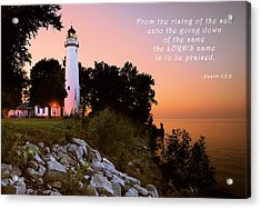 Praise His Name Psalm 113 Acrylic Print
