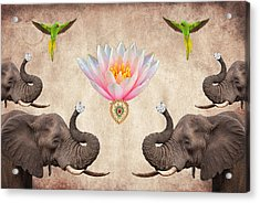 Praise The Lord Series 2 Acrylic Print by Sumit Mehndiratta