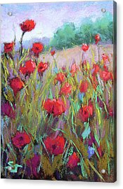 Praising Poppies Acrylic Print by Susan Jenkins