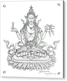 Prajnaparamita -perfection Of Wisdom Acrylic Print
