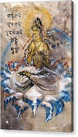 Prajnaparamita  Acrylic Print by Silk Alchemy