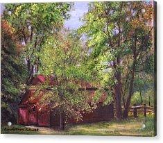 Prallsville Mills Stockton Nj Acrylic Print by Aurelia Nieves-Callwood