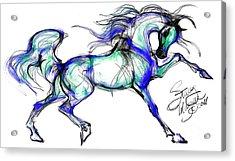 Prancing Arabian Horse Acrylic Print