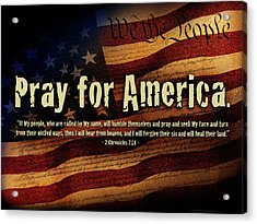 Pray For America Acrylic Print by Shevon Johnson