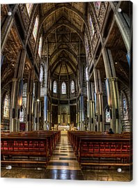 Our Lady Of Nahuel Huapi Cathedral In The Argentine Patagonia Acrylic Print