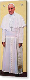 Pray For Me Portrait Of Pope Francis Acrylic Print