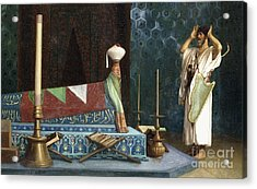 Prayer At The Sultan's Room  The Grief Of Akubar  Acrylic Print