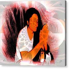 Prayer Changes Things Acrylic Print by Fania Simon