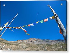 Acrylic Print featuring the photograph Prayer Flag by Yew Kwang