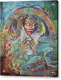 Prayer For Peace Acrylic Print by Blaze Warrender