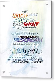Prayer Acrylic Print