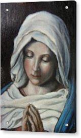Prayer Acrylic Print by Sorin Apostolescu