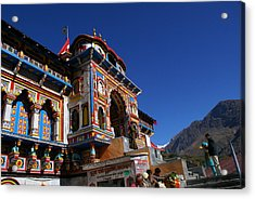 Prayers At Badrinath Temple Acrylic Print
