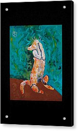 Praying Cat Acrylic Print