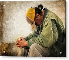 Praying Acrylic Print