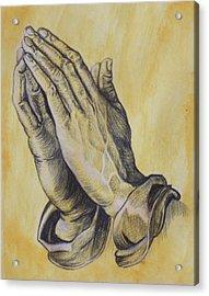 Praying Hands Acrylic Print by Donovan Hubbard