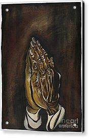 Praying Hands Acrylic Print by Keith  Thurman