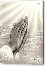 Praying Hands Acrylic Print