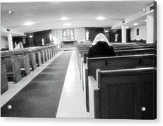 Praying In Peace Acrylic Print