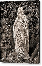 Acrylic Print featuring the photograph Praying Nun by Elf Evans