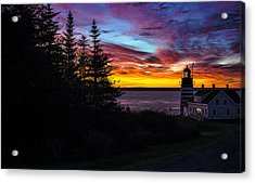 Pre Dawn Light At West Quoddy Head Lighthouse Acrylic Print