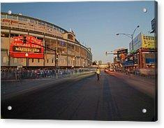 Pre-game Cubs Traffic Acrylic Print by Sven Brogren