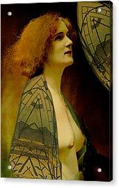 Pre-raphaelite Beauty Acrylic Print by Sarah Vernon