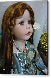Pre Raphaelite Doll  Acrylic Print by Adrianne Wood