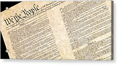 Preamble Of The Constitution Of The United States Acrylic Print by Jack R Perry
