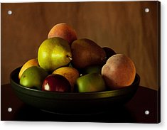 Precious Fruit Bowl Acrylic Print by Sherry Hallemeier
