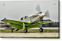 Acrylic Print featuring the photograph Precious Metal Final Flight by Alan Toepfer