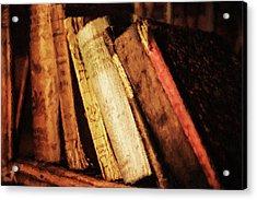 Precious Old Books Acrylic Print by Georgiana Romanovna